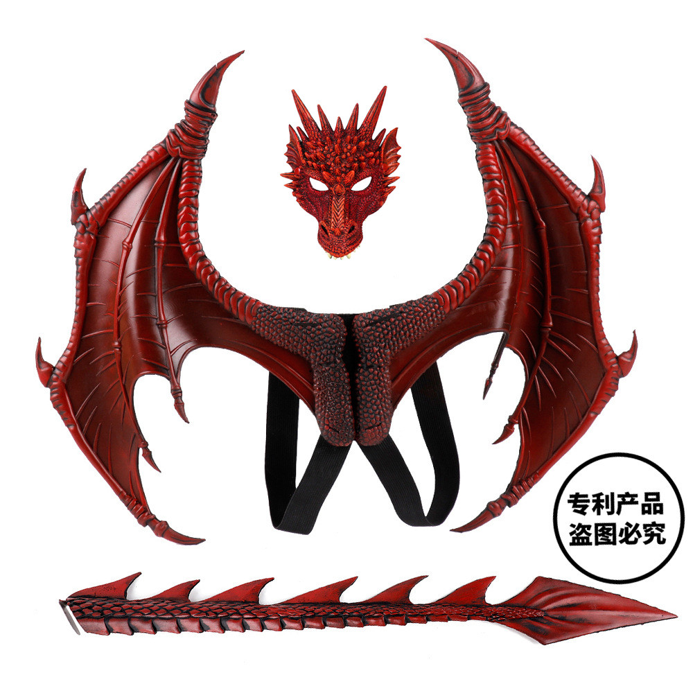 Disfraz De Dinosaurio Purim Halloween Kids How to Train Your Dragon 3 Cosplay Decoration Set Wing and Tail Child Dragon