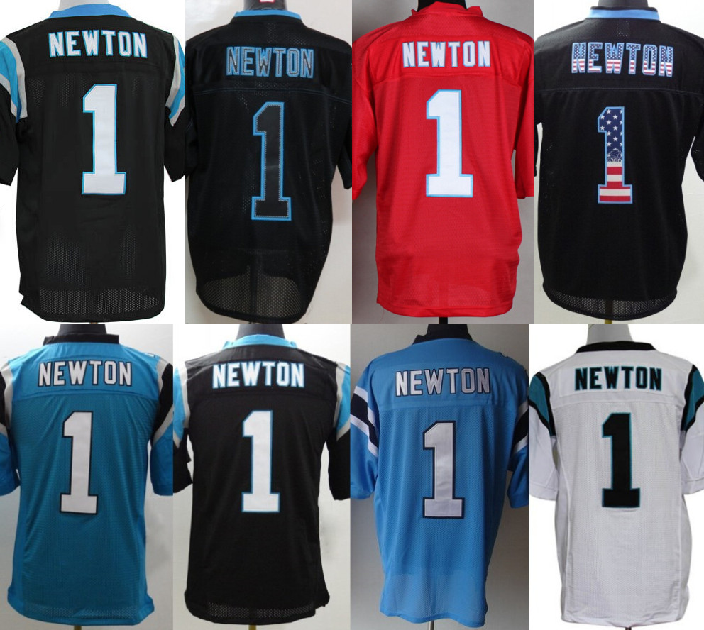 new arrivals 92cd2 a695a 1 Cam Newton Jersey White Black Blue Red Gray Super Hot ...