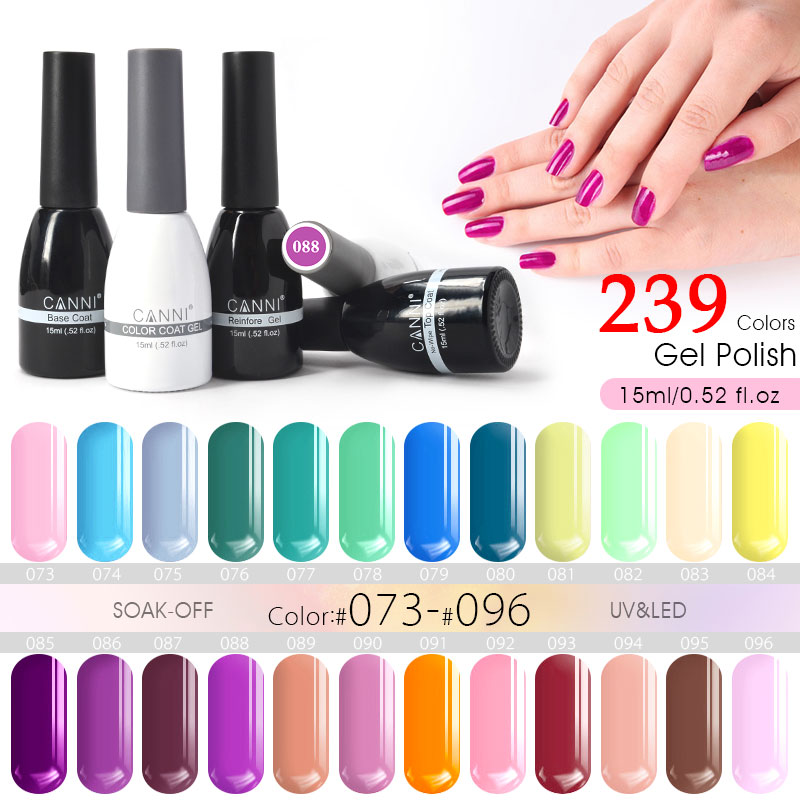 ツ)_/¯Organic Gel Nail Polish CANNI Brand Nail Art DIY Design 240 ...