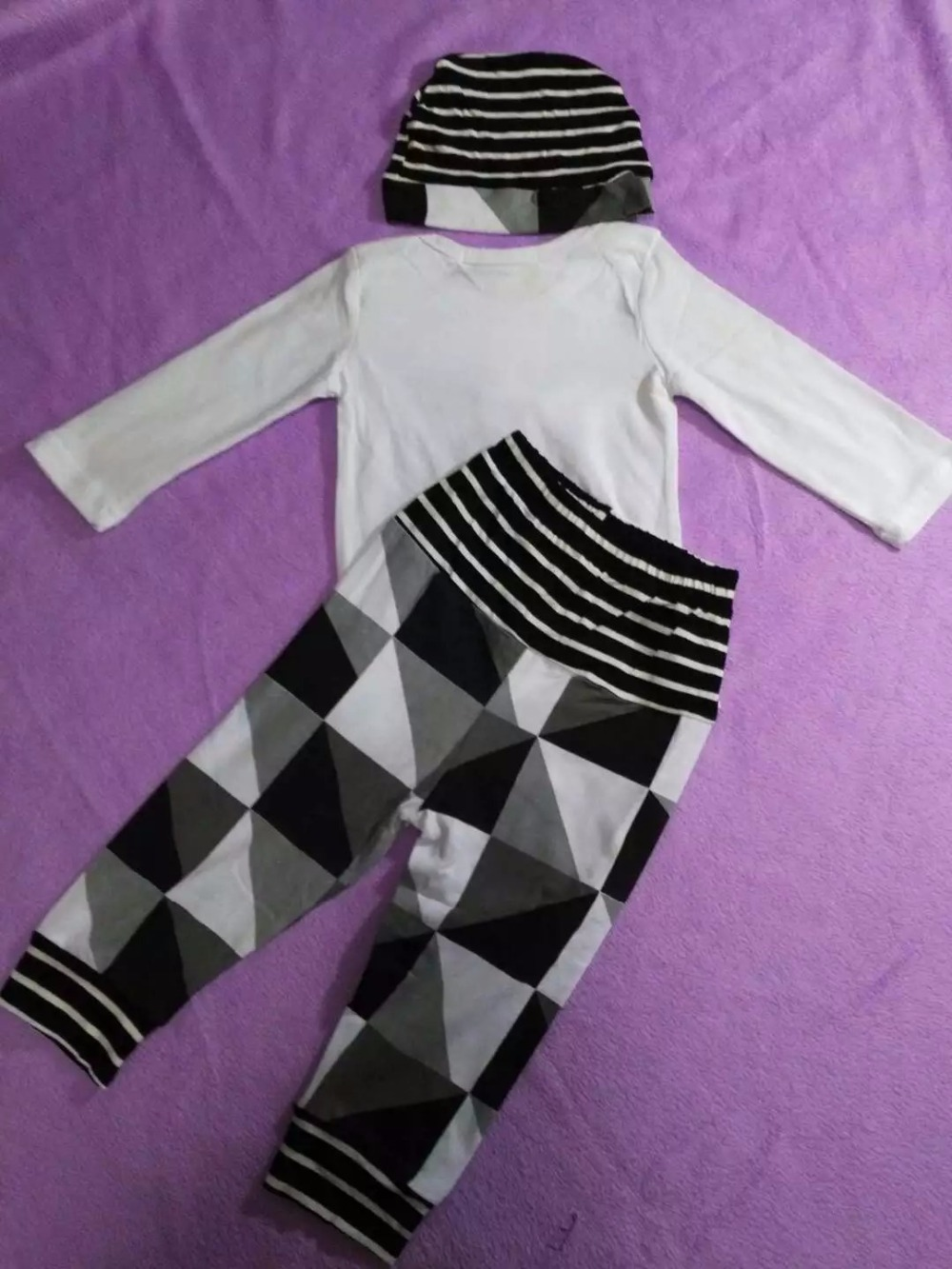 46a66b5c8 Baby Clothing Sets Infant Outfits Newborn Romper Suits 3PCS Striped ...