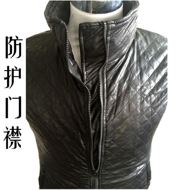 Difícil invisível serviço facada Interfax gola do casaco de couro colete armadura de aço auto-defesa anti-faca para cortar o pescoço