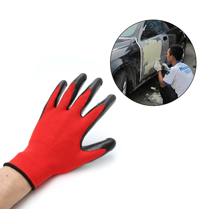 1 Pair Nitrile Coated Working Gloves Nylon Safety Labour Factory Garden Repair1 Pair Nitrile Coated Working Gloves Nylon Safety Labour Factory Garden Repair