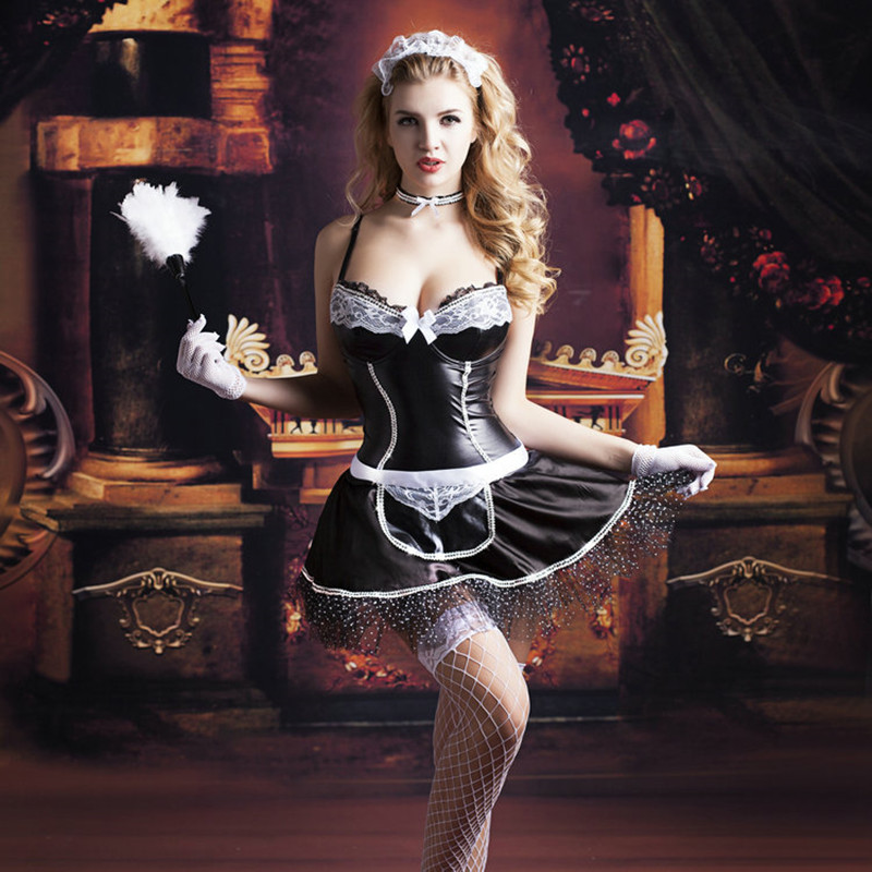 Aliexpresscom  Buy Adult Women French Maid Cosplay -9346