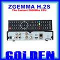 2 UNIDS Zgemma H.2S 2 * dvb-s2 Sistema Operativo Linux receptor de satélite de la ayuda SD/TF tarjeta de grabación PVR 2 unids/lote envío libre de dhl