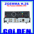 2PCS Zgemma H.2S 2*dvb-s2 Linux Operating System satellite receiver support SD/TF card PVR record 2pcs/lot free shipping by DHL