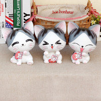 Home DecoratIve Money Box Happy Cat Novelty Large Piggy Bank New Design Saving Pot Coins MoneyBox