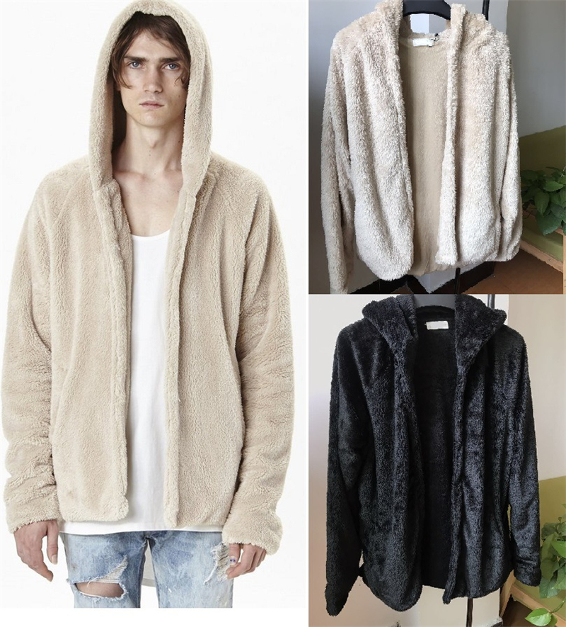 Sherpa Hoodie Streetwear Cool Kanye West Clothing Fashion Hip Hop Skateboard Urban Cloth ...