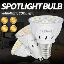 GU10 LED Lamp Spotlight E14 LED Bulb 220V Bombillas Led E27 Corn Light 48 60 80Leds Spot Light Bulbs MR16 Home Ampoule Focos B22 стоимость
