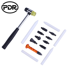 Новый PDR автомобильный резиновый удар молотком вниз инструменты 9 головок коснитесь вниз ручка 5 шт. белый нейлоновые ручки кузова Dent Repair Tool Kit 15 шт./компл.