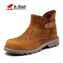 Z. Suo hombres botas, la calidad de la moda de cuero conjunto boca hebilla botas de hombre, ocio de la manera de los hombres botas de trabajo en invierno. zs327