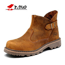 Z. Suo men's boots, the quality of the leather fashion set mouth buckle boots man,leisure fashion men work boots in winter.zs327