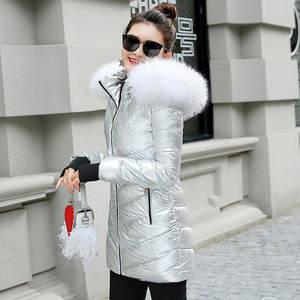 e09d2638678 GZGOG 2018 winter jacket women hooded parka warm coat
