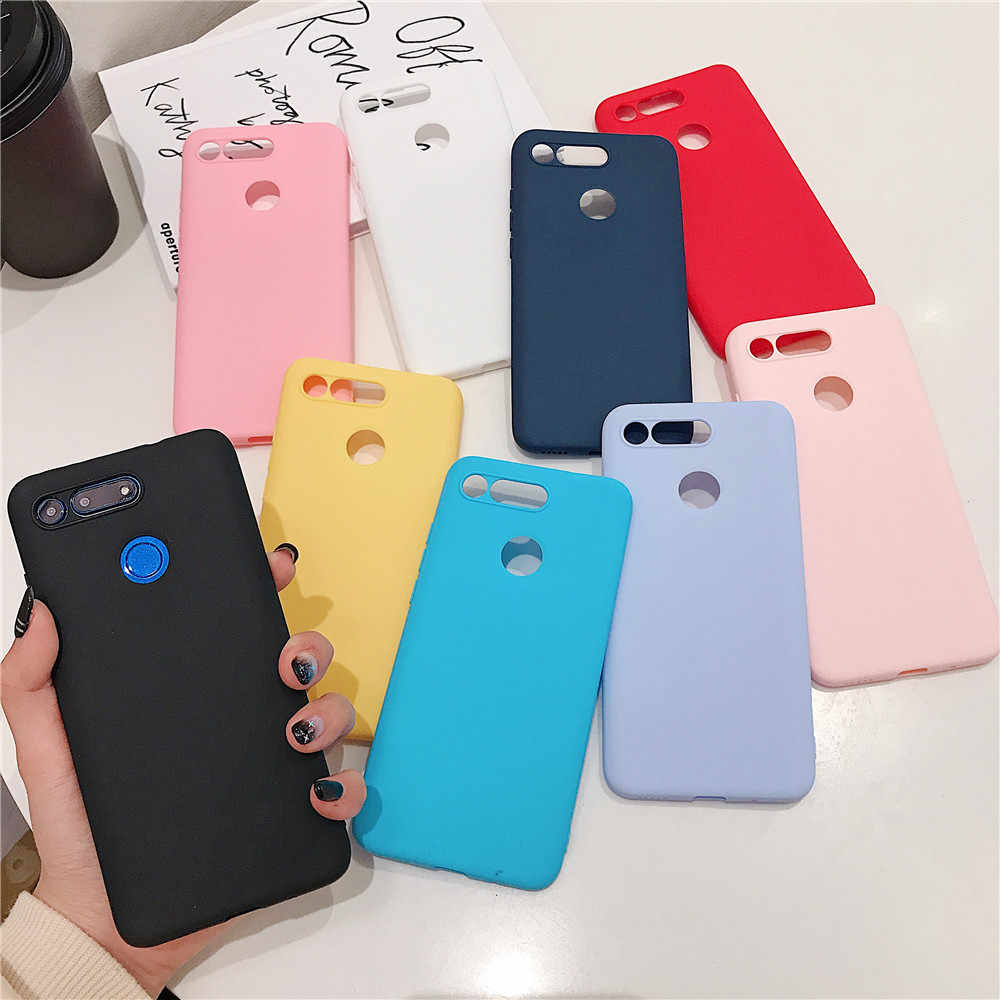 Fashion Simple Candy Color TPU Soft silicone cover for Xiaomi Redmi Go 4A 4X 5 5A 6 6A 7 6Pro S2 5Plus Note 4 5 5A 6 7 K20 case