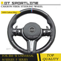 For BMW F10 2011 upgrade style Carbon Fiber Steering Wheel including buttons and shift paddles