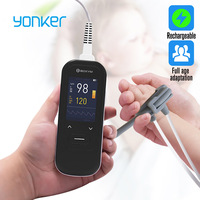 Yonker Medical Handheld Pulse Oximeter Portable Rechargeable blood oxygen Heart Rate Monitor For Adult Children Newborns Probe