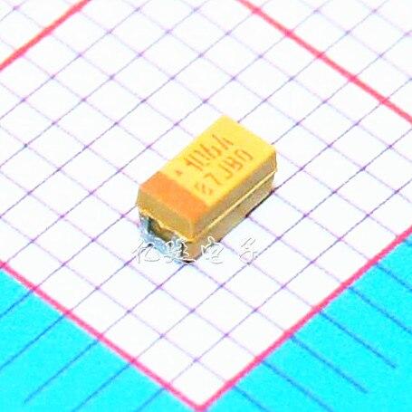 100PCS 1206 6.3V 100UF 107M A3216 A type SMD tantalum capacitors