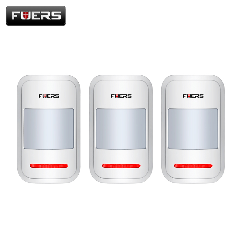 Fuers 3pcs/Lot 433Mhz Wireless PIR Motion Sensor Built-In Antenna Infrared Alarm Detector For GSM PSTN Home Alarm System smarsecur alarm 433mhz wireless pir sensor motion detector for wireless gsm pstn auto dial home security alarm system no battery