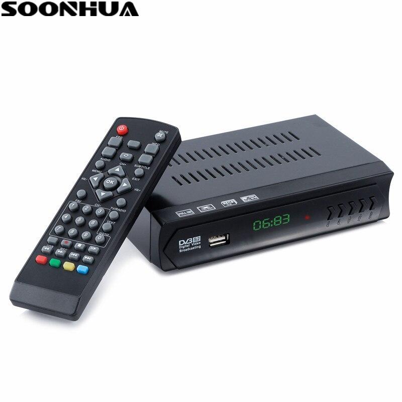 SOONHUA DVB-S2-M5 HD ТВ BOX Цифровой Декодер каналов кабельного телевидения ТВ и радио программ с LNB USB Порты и разъёмы HDMI Выход ЕС Plug ...