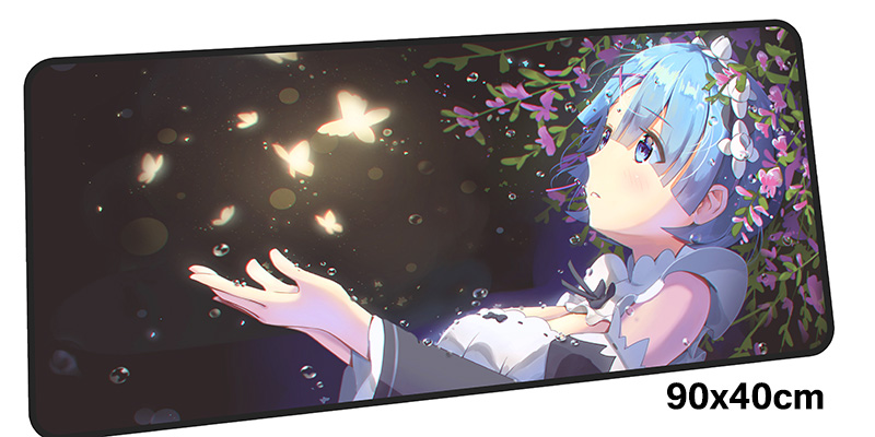 re zero mousepad gamer 900x400X3MM gaming mouse pad large High-end notebook pc accessories laptop padmouse ergonomic mat