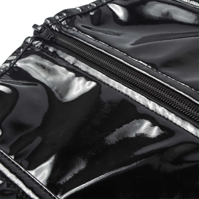 FLORATA на молнии Готический Фетиш корсет на талию кинчер сексуальный стройнящий бюстье ПВХ Виниловый подбюст однотонный черный стимпанк формирователь тела