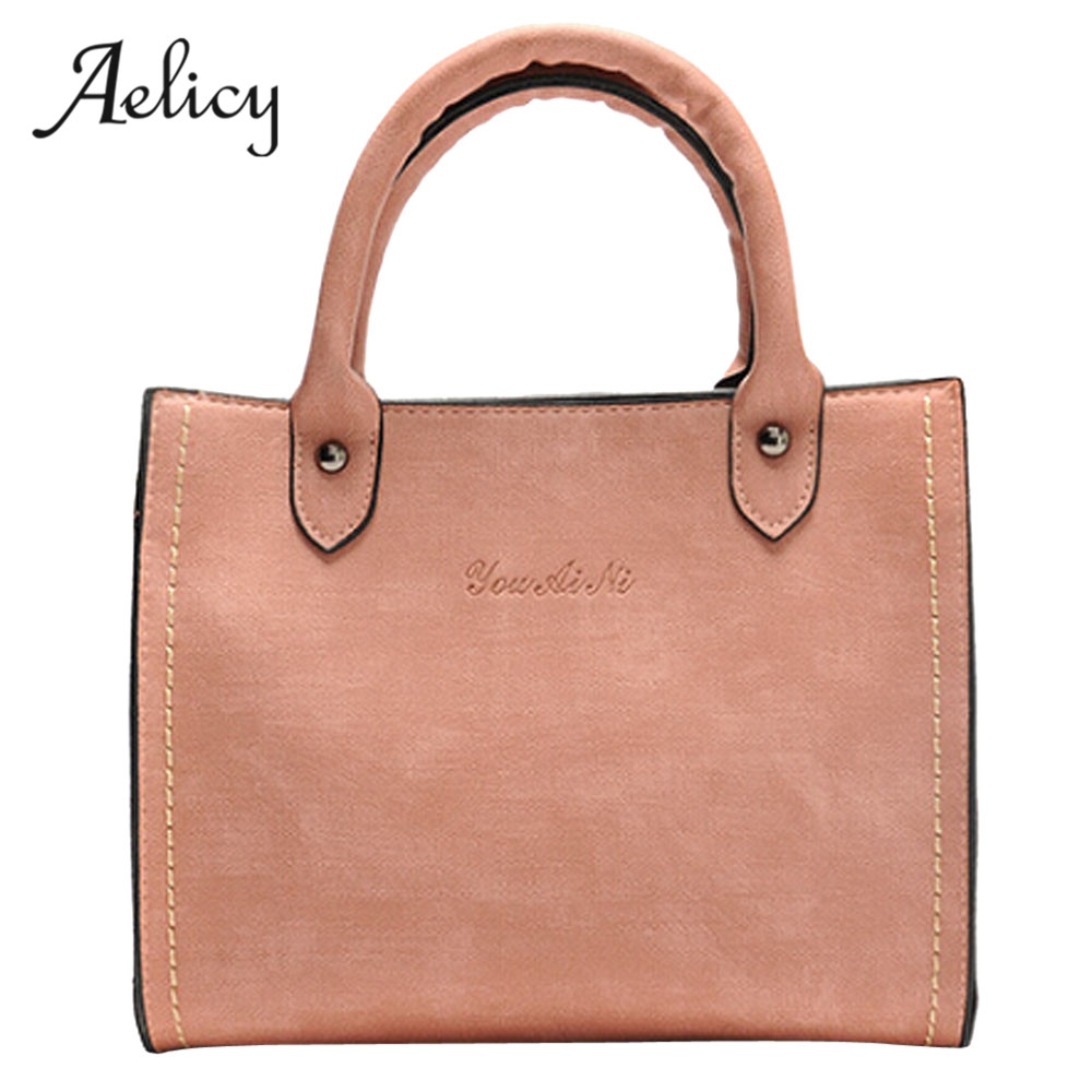 Aelicy luxury high quality pu leather bag female woman designer bags vintage casual tote leather traveling bag female women bag