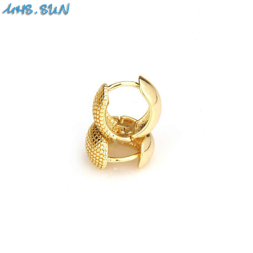 MHS. matahari Baru Warna Emas Wanita Anting-Anting Hoop Amerika Selatan Bulat Anting-Anting Pesta Pernikahan Perhiasan 1 Pasang Panas dijual