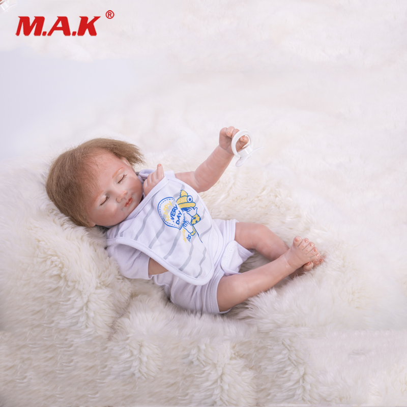 18 Top Quality Lifelike Soft Silicone Reborn Baby Lifelike Sweet Sleeping Toddler Princess Bonecas Toy for girls Christmas Gift18 Top Quality Lifelike Soft Silicone Reborn Baby Lifelike Sweet Sleeping Toddler Princess Bonecas Toy for girls Christmas Gift