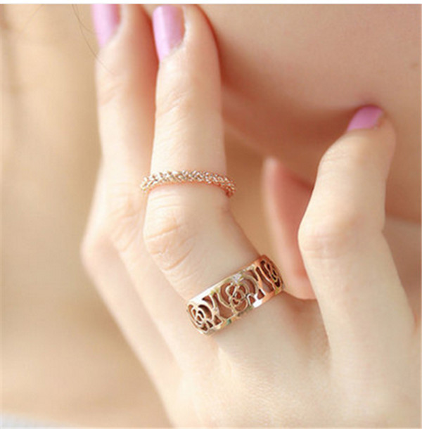 2015 women fashion jewelry ring twisted twist knit simple thin