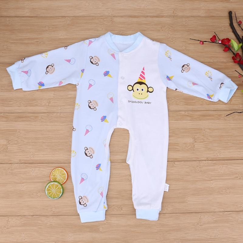 Autumn Baby Romper Jumpsuit Cotton Newborn Cartoon Crawl Clothing Toddler Girl Clothing For 1-2 Year Old puseky 2017 infant romper baby boys girls jumpsuit newborn bebe clothing hooded toddler baby clothes cute panda romper costumes