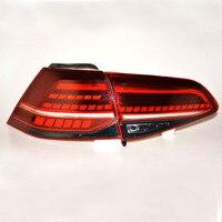 Автомобиль Стайлинг для гольфа 7 MK7 Golf7 Golf7.5 MK7.5 Дизайн светодиодный задние фонари все светодиодный сзади лампы динамический сигнал поворота