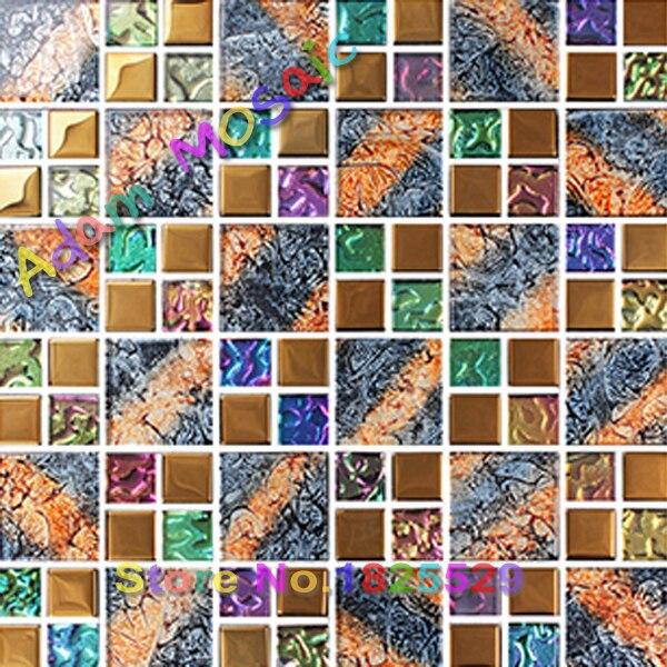 Farbige Wand Fliesen Kamin Art Deco Schillernden Glas Fliesen Küche  Backsplash Spiegel Multi Farbe Fliesen U