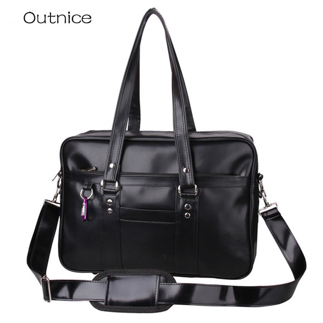 24271d3edec2 Japanese Fashion School Bags College Students Uniform Single Shoulder Bag  Handbags Portable Laptop Hand Bags for