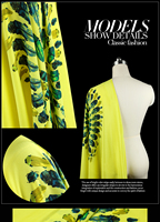 Gemstone Insects Digital Printing Positioning Double Crepe Silk Fabric Silk Dress Fabrics Apparel Material Yellow
