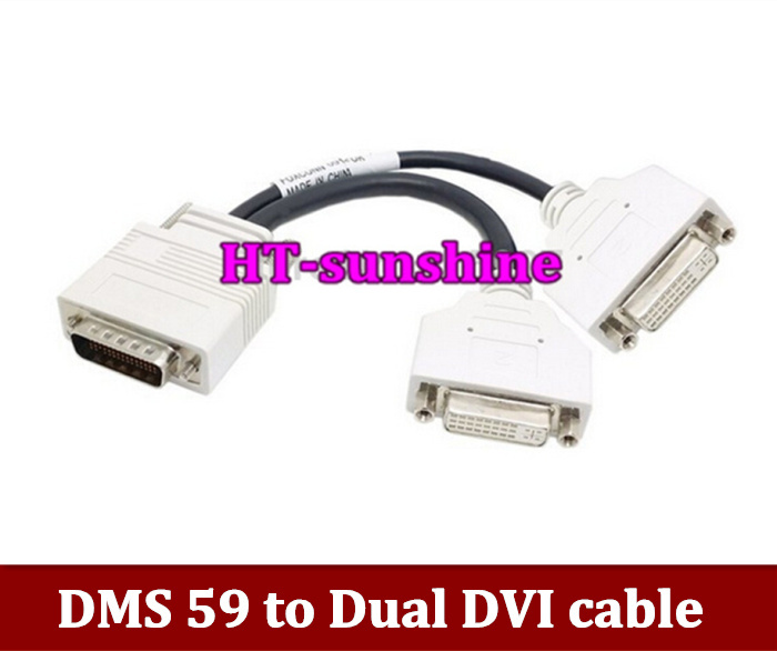 Free Shipping DMS 59 to Dual DVI cable DMS-59 to Dual DVI Video Cable 59pin DMS TO 2*DVI support NVS440, Natirx 4 , FireMV 2200