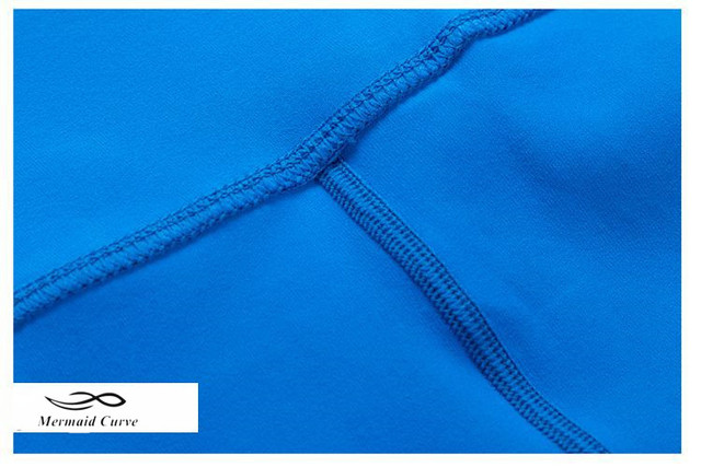 Women High-waist Blue Yoga shorts