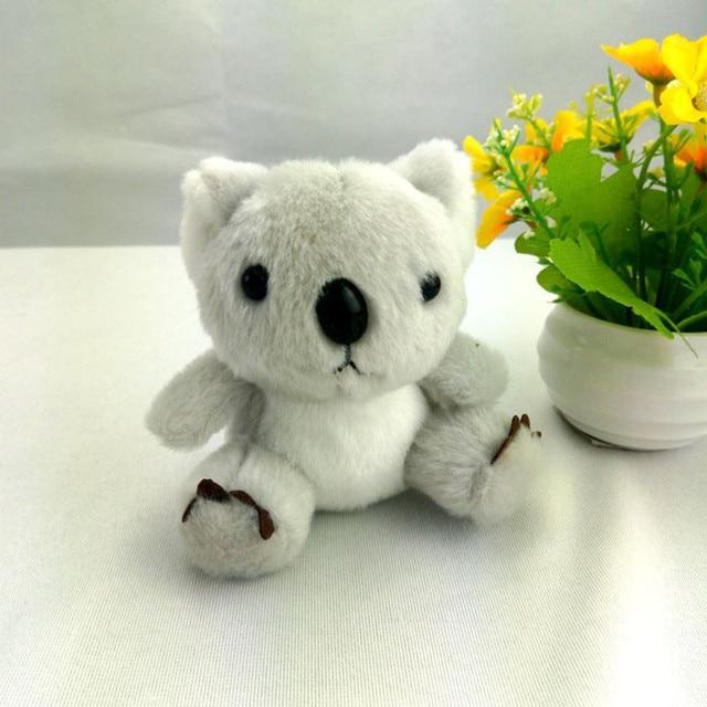 2017 Chaveiros trinket Koala Mini Pom Pom Mulheres Coelho fofo Koala Boneca de Brinquedo Monstro Saco Anel Chave Do Carro Chaveiro Jóias presente