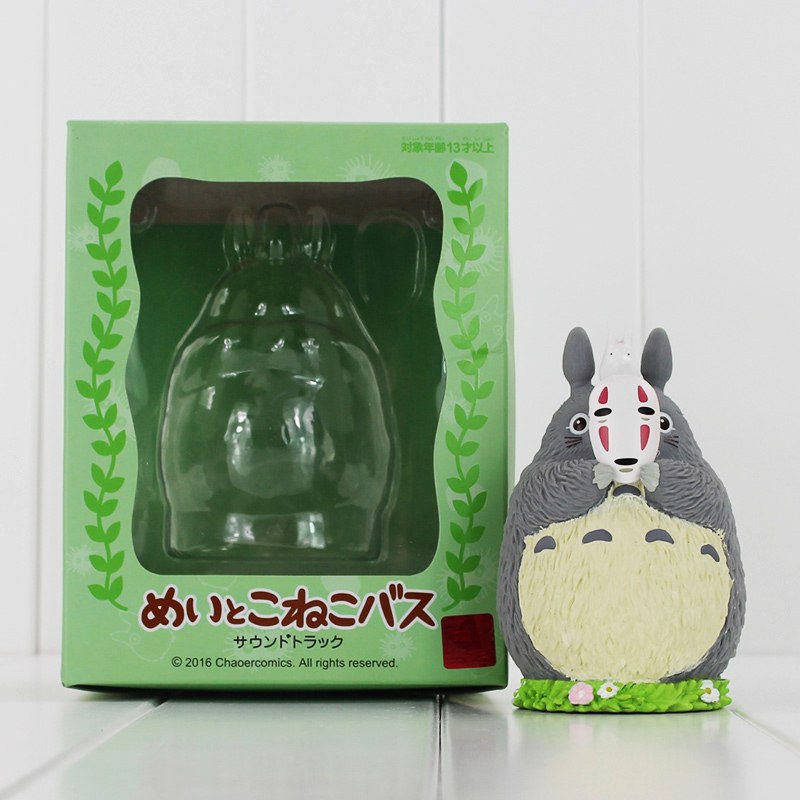 Japanese Anime Cartoon Movie My Neighbor Totoro PVC Figure Toy Model Dolls Piggy Bank Saving Bank for Kids With Box 10cm 2016 crazy birds movie green bomb pig piggy red stella chuck matilda pink bird minifigures toy cartoon compatible lego birthday