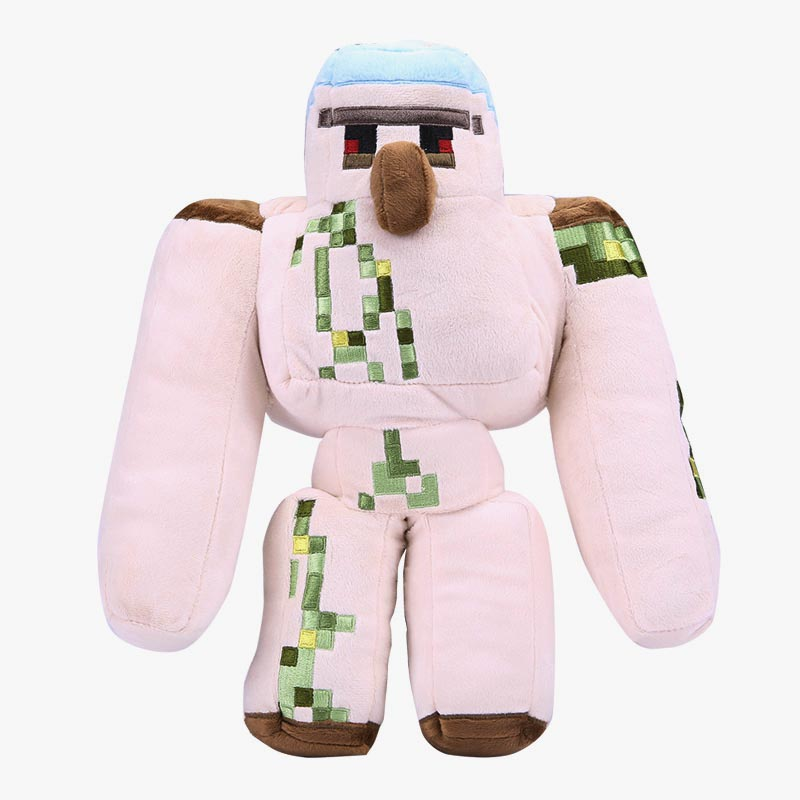 2017 NEW Minecraft Plush Action Figure Toys 36CM Minecraft Iron Golem Sword Pickaxe Stone Bed Box Model Toys Kids Toys For Gift new hot 18cm one piece donquixote doflamingo action figure toys doll collection christmas gift with box minge3