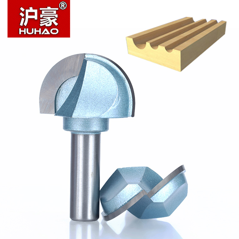 HUHAO 1pcs 1/2 1/4 Shank cove box bit Round Shank Router Bits for wood Industrial Grade Woodworking endmill miiling cutter 1 2 5 8 round nose bit for wood slotting milling cutters woodworking router bits