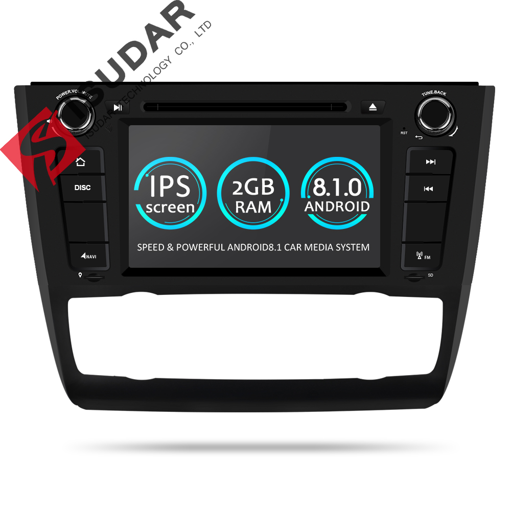 цена Isudar 1 Din Car Multimedia Player GPS Andorid 8.1 DVD Automotivo For BMW 1 Series E81/E82/E88 2004-2011 DSP Wifi Radio FM 2+16G