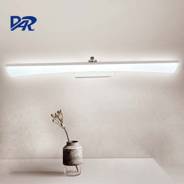 Waterproof Linear Acrylic Bathroom Light 04M12M Led Wall Mirror Front