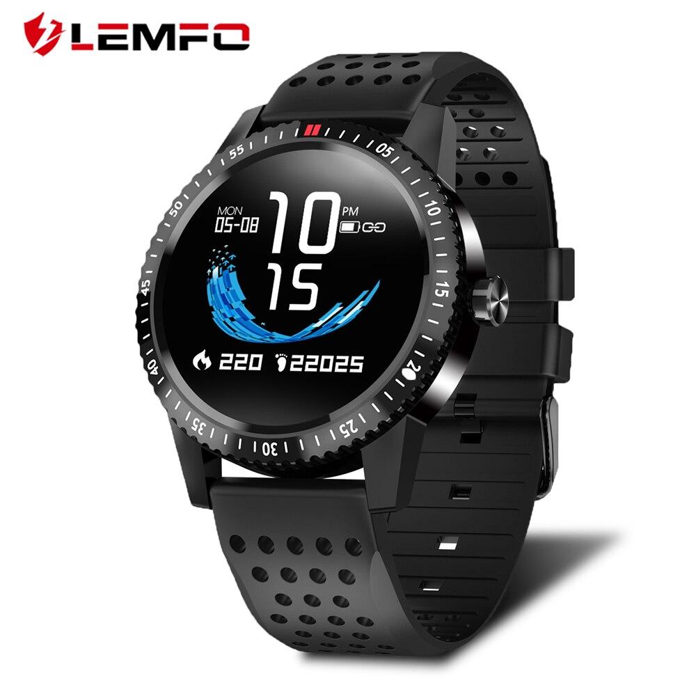 LEMFO T1 Smartwatch IP67 impermeable dispositivo portátil de Color de Monitor de pantalla reloj inteligente para Android IOS 30 días de espera