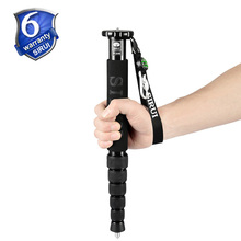 Sirui P306 P-306 Monopod Professional Aluminum Portable Tripod For Camera 6 Section Carrying Bag Max Loading 8kg Free Shipping
