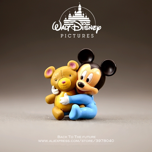 Disney Mickey Mouse Minnie baby 5cm Cute Action Figure