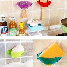 shower caddy 1pc Useful Double Suction Cup Sink Shelf Soap Dish Holder Sponge Drain Rack Kitchen Sucker Storage Tool