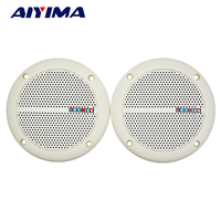 AIYIMA 2Pcs Audio Ceiling Speakers Waterproof Radio Speaker Passive Sound WEAH 400 4Ohm 25W Speaker