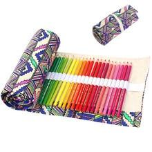 Chinese folk custom style Canvas Roll Up Pencil font b Case b font Pen Brush Wrap