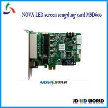 Novastar – écran vidéo led couleur rvb, carte d'envoi, NOVA MSD600, prend en charge MRV300/MRV336/MRV208/mrv328