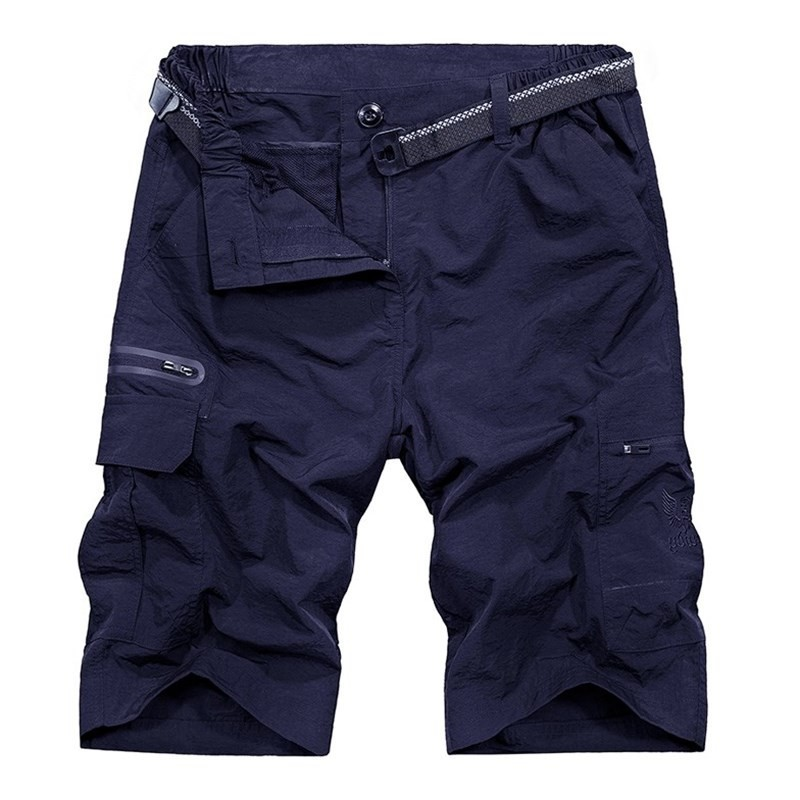 Outdoor Waterproof Quick Dry Hiking Shorts Thin Breathable Multi Pocket Short Trousers Tactical Sport Trekking Mens Army Shorts