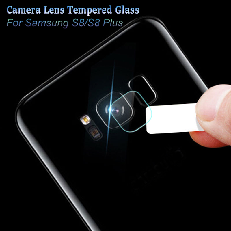 2pcs-Clear-Camera-lens-Tempered Glass for Samsung Galaxy S8-S8 Plus Back Cover Phone Lens